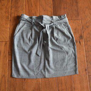 Vero Moda Paperbag Short Check Skirt Size L
